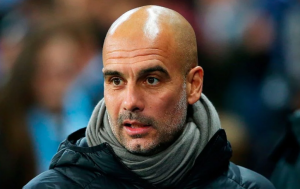 EPL Guardiola reacts as Man United defeat Man City at Etihad